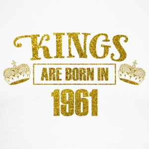 kings are born in 1961 - Geburtstag Koenig Gold - Männer Baseballshirt langarm
