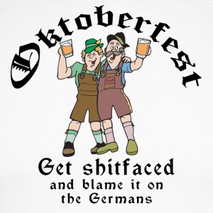 Funny Oktoberfest German Drinking - Men's Long Sleeve Baseball T-Shirt