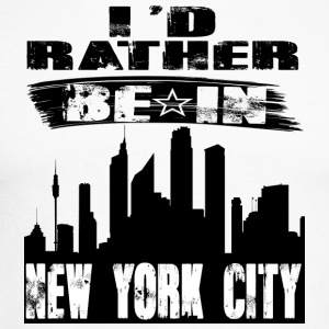 Gift Id rather be in New York City - Men's Long Sleeve Baseball T-Shirt