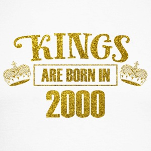 kings are born in 2000 - Geburtstag Koenig Gold - Männer Baseballshirt langarm