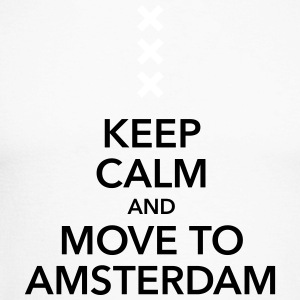 keep calm move to Amsterdam Holland Andreaskreuz - Männer Baseballshirt langarm