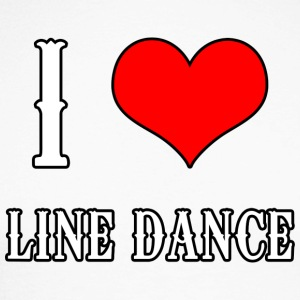 I Love Line Dance - Langermet baseball-skjorte for menn