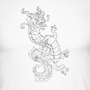 dragon drawing - Men's Long Sleeve Baseball T-Shirt