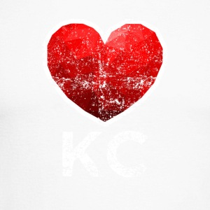 Kansas City Heart Tee Shirt Distressed - Men's Long Sleeve Baseball T-Shirt