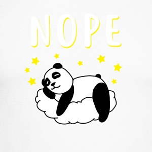 Nope Panda - Langermet baseball-skjorte for menn