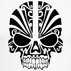 tribal Skull - Langermet baseball-skjorte for menn