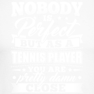 Funny Tennis Player Shirt Nobody Perfect - Männer Baseballshirt langarm