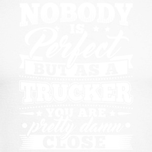 Funny Trucker skjorte Nobody Perfect - Langermet baseball-skjorte for menn