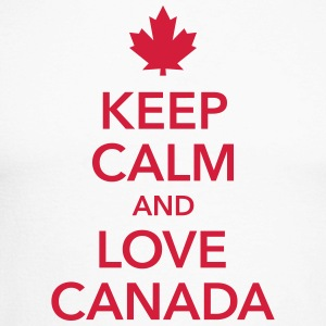 keep calm & love Canada Maple Leaf Kanada Amerika - Männer Baseballshirt langarm