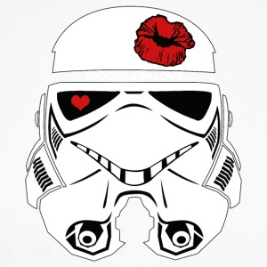 Stromtrooper in LOVE - Smiling Troopa - Men's Long Sleeve Baseball T-Shirt