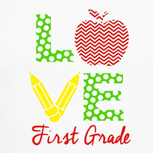 love first grade - Men's Long Sleeve Baseball T-Shirt