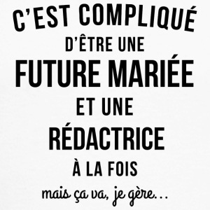 EVJF future mariee et Redactrice - T-shirt baseball manches longues Homme