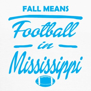 fall means mississipi - Men's Long Sleeve Baseball T-Shirt