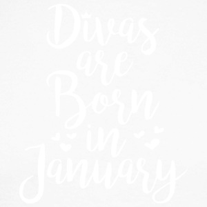 Divas are born in January - Men's Long Sleeve Baseball T-Shirt