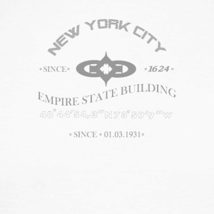 "New York City ""Empire State Building"" - Men's Long Sleeve Baseball T-Shirt"