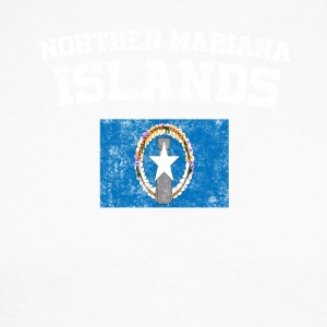 Northern Mariana Islands State Flag Distressed Wine - Men's Long Sleeve Baseball T-Shirt