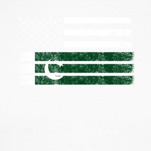 Pakistani American Flag - USA Pakistan Shirt - Men's Long Sleeve Baseball T-Shirt