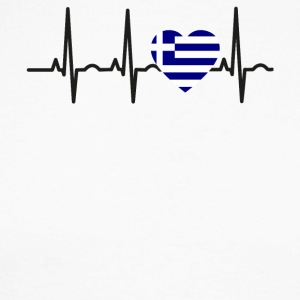 I LOVE ekg heartbeat Greece greece - Men's Long Sleeve Baseball T-Shirt