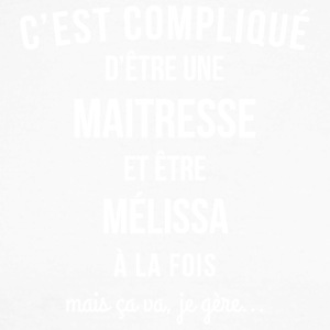 Maitresse Melissa humour - T-shirt baseball manches longues Homme