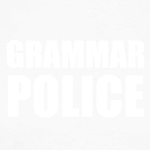 GRAMMAR POLICE - Men's Long Sleeve Baseball T-Shirt