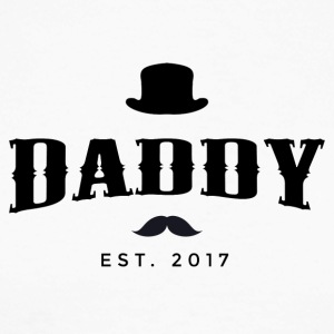 DADDY est. 2017 - Men's Long Sleeve Baseball T-Shirt