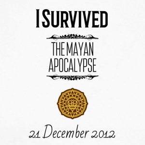 I survived the Mayan Apocalypse - Men's Long Sleeve Baseball T-Shirt