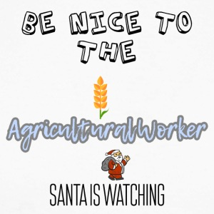 Be nice to the agricultural worker Santa watch it - Men's Long Sleeve Baseball T-Shirt