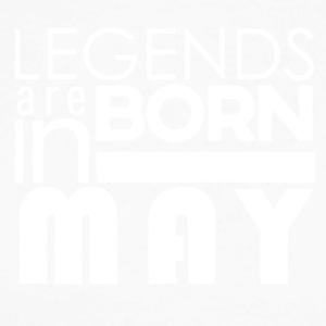 Legends are born in May - Männer Baseballshirt langarm
