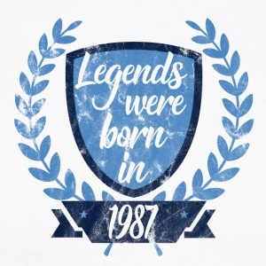 Legends were born 1987 - Men's Long Sleeve Baseball T-Shirt