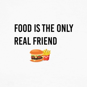 Food is the only real friend - Männer Baseballshirt langarm