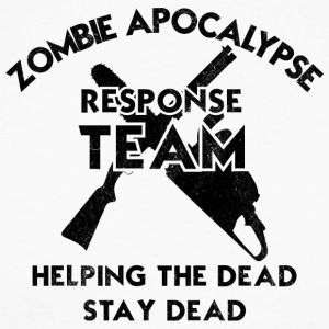 Zombie: Zombie Apocalypse Response Team. Helping - Men's Long Sleeve Baseball T-Shirt