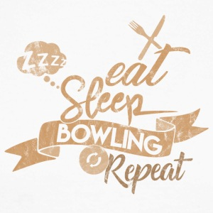 EAT SLEEP BOWLING REPETIR - Raglán manga larga hombre