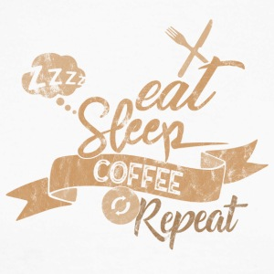EAT SLEEP COFFEE REPEAT - Men's Long Sleeve Baseball T-Shirt