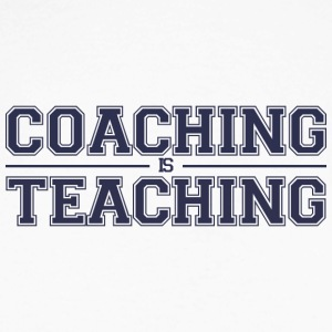 Coach / Trainer: Coaching Is Teaching - Men's Long Sleeve Baseball T-Shirt