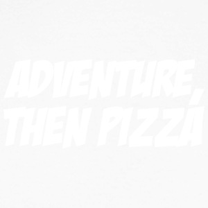 Adventure then pizza - Men's Long Sleeve Baseball T-Shirt
