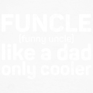 Funcle - Funny Uncle like a dad only cooler grunge - Men's Long Sleeve Baseball T-Shirt