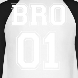 BRO 01 - White Edition - Langermet baseball-skjorte for menn
