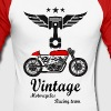 motorcycles vintage team 02 - Men's Long Sleeve Baseball T-Shirt