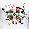 Croix Basque, grunge design - T-shirt baseball manches longues Homme