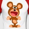 Shrugging Cartoon Bear by Cheerful Madness!! - Men's Long Sleeve Baseball T-Shirt