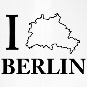 I Love Berlin Stadtgrenze Shirt - HATRIK DESIGN - Flexfit Baseballkappe