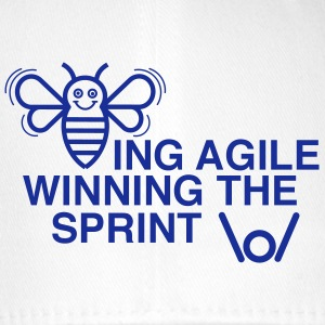 BEING AGILE WINNING THE SPRINT - Flexfit Baseballkappe
