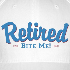Retired Bite Me - Flexfit Baseball Cap