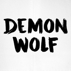 Demon Wolf Text Design Sort - Flexfit baseballcap