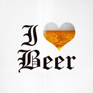 I LOVE BEER OLD ENGLISH - Flexfit Baseballkappe