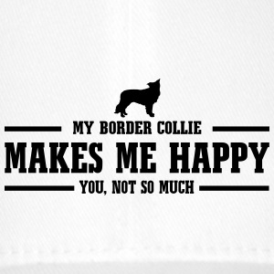 BORDER COLLIE makes me happy - Flexfit Baseballkappe