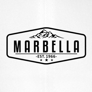 Marbella Mountain Logo with Border - Flexfit Baseball Cap