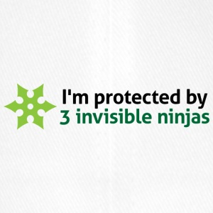 I Am Protected By Invisible Ninjas! - Flexfit Baseball Cap