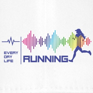 Running Girl - Everday Life - Good Vibes (violet) - Flexfit Baseball Cap