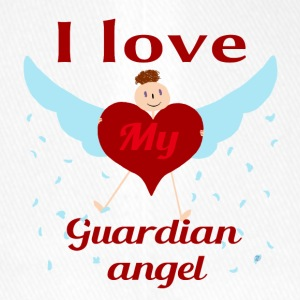 I love my guardian angel - Flexfit Baseball Cap